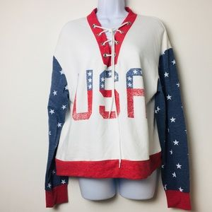 "Tops - Weekend Soul Graphic Longsleeves Shirt ""USA"""